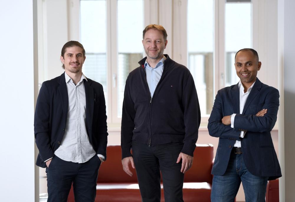 Dominik Trost (holo|one), Philippe Kapfer (NextDay.Vision), Roy Chikballapur (MachIQ)