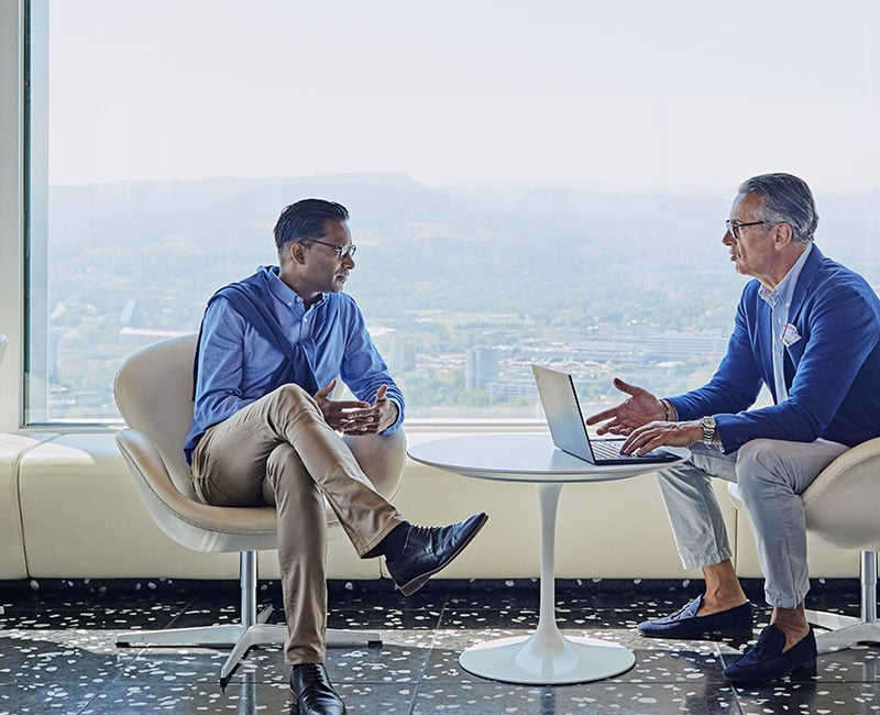 Business men discuss business expansion to Switzerland
