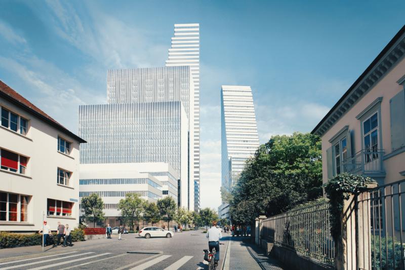 Mock up Roche buildings at Grenzacherstrasse