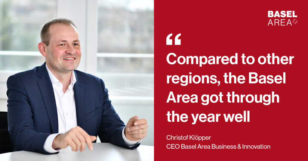 Christof-Klöpper-Quote - Compared to other regions, the Basel Area got through the year well