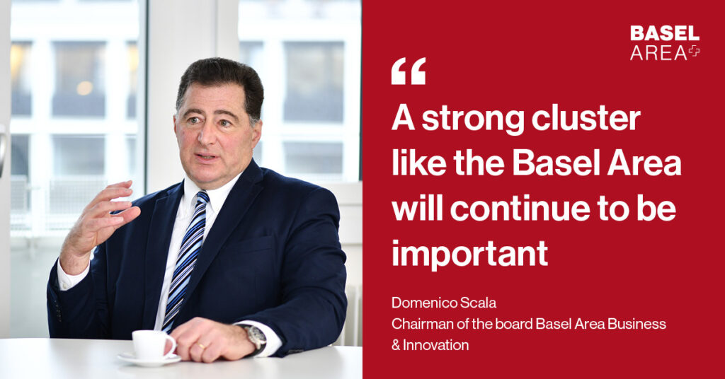 Quote by Domenico Scala - A strong cluster like the Basel Area will continue to be important also after coronavirus