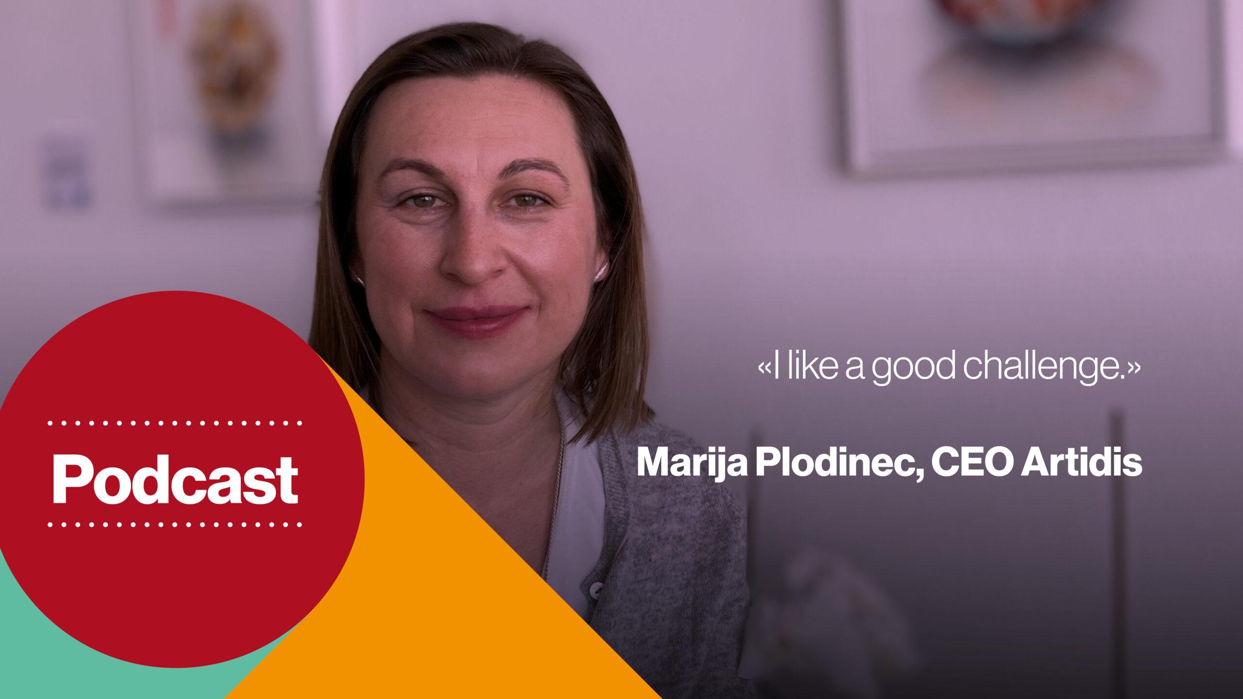 Podcast cover - Marija Plodinec, CEO Artidis, a medtech startup