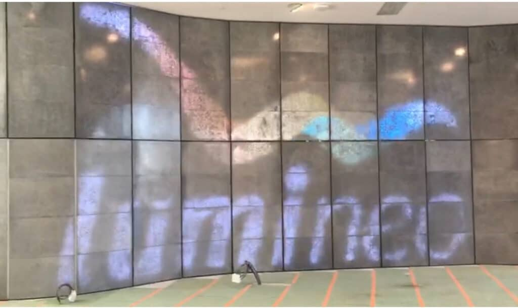 Lumineo installs translucent concrete wall for Vinci